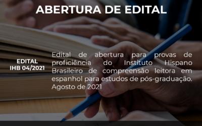 [Resultado e gabarito] Prova de proficiência de compreensão leitora em Espanhol para estudos de pós-graduação.